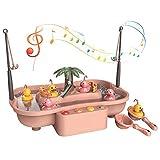 kramow Angelspielzeug, Wasserspielzeug Kinder 3 Jahre, Angelspiel, Kleiner Wasserspieltisch Mit Musik, Partyspiele für Kinder, Spielzeug Geschenke für Jungen und Mädchen 3 4 5 6 Jahre alt