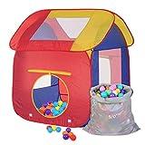Schramm® Kinderspielzelt Pop Up Bällebad mit 200 Bällen und Tragetasche Kinderzelt Bällebad Spielzelt Bällezelt