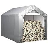 Susany Lagerzelt Garagenzelt Zeltgarage Weidezelt Wasserfest & UV-Beständig PE, verzinkter Stahl 180x300 cm Grau