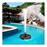 MINGMIN-DZ Dauerhaft Sonnenkollektor-Wasser-Brunnen-Garten-Brunnen-Pumpe Solar-Gartenbrunnen Wasserfälle Strom Waterfontein Solar Mini Solarbrunnen