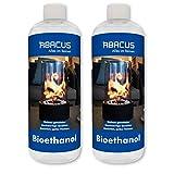 ABACUS 2X 1000 ml Bioethanol - Bio-Flamme Brennstoff Alkohol Brennalkohol Brennspiritus Spiritus Lampenbrennstoff Bio-Ethanol für Tischkamine (7070)