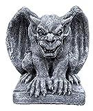 stoneandstyle Steinfigur hockender Gargoyle Torwächter frostfest wetterfest Steinguss
