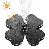 Solar Springbrunnen für Außen,TekHome Solar Gartenbrunnen,Teichpumpe Solar,Schwimmender Solar Wasserpumpe für Vogeltränke,Fontäne Pumpe Gartendeko,Gartenteich,Vogelbad ,Fisch-Behälter.