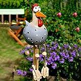 YueLove Keramik Huhn Gartendeko Tierfigur Gartenstecker Keramikfigur Handarbeit Ornament Gartendeko Huhn Deko Handarbeit Gartenstatue Dekorative Huhn Gartenstecker Henne Gartenfigur Huhn Deko
