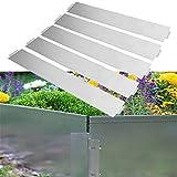 HENGMEI 5m Metall Rasenkante Flexibel Mähkante Beetumrandung 100 x 15 cm Beeteinfassung 5 Stück