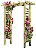 Eingangspergola 160 x 62 x 210 cm Pergola aus Holz mit Rankelementen von Gartenpirat®