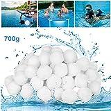 GothicBride Filterballs für sandfilteranlagen, 700g filterbälle für Schwimmbad, Filterpumpe, Aquarium Sandfilter