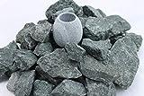 5 kg Saunasteine Diabas (vorgewaschen) 32-56 mm + Saunakko Saunatasse als SET (pro kg. 5,79 €)