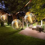 ROVLAK LED Lichterkette Außen Lichterketten Außenbereich 9.5m Globe Birnen Lichterkette Garten mit 25+3 Glühbirnen für Party, Hochzeit, Halloween und Weihnachten, Warmes Gelb