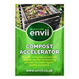Envii Compost Accelerator - Bio Kompostbeschleuniger - Schnellkomposter mit Mikroorganismen Kompost Starter - 12 Tabs behandelt 5m