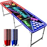 Offizieller Spotlightholes Beer Pong Tisch mit Löchern Set | Full Beer Pong Pack | Inkl. 1 Beer Pong Tisch + 120 53cl Becher (60 Rot & 60 Blau) + 6 Ping-Pong-Bälle | Trinkspiele | OriginalCup®