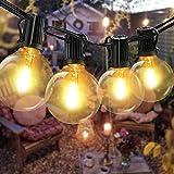 30M Lichterkette Außen, Bomcosy Lichterkette Glühbirnen Aussen G40 Beleuchtung 50+2 Birnen IP45 Wasserdicht Lichterkette für Garten,Terrasse,Bäume,Hof, Haus Party Deko, Warmes Weiß 2700K
