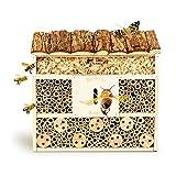 bambuswald© Insektenhotel 29,5 x 10 x 28,5 cm   Bienenhotel Unterschlupf für Insekten - Insektenhaus Naturmaterialien. Gelebter Natur- & Artenschutzfür Zuhause -NistkastenHausNützlingshotel Schutz