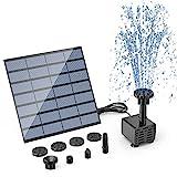 AISITIN Solar Springbrunnen 2021 Upgrade DIY Solarbrunnen Solarwasserbrunnen Solar Teichpumpe Solar Fontäne Pumpe Solar-Schwimmbrunnenpumpe mit 6 Fontänenstile für Garten, Vogel-Bad, Fisch-Behälter