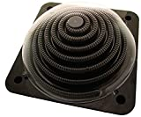 GlobaClean Pool Solarheizung Halbkugel Poolheizung Solarschnecke Solarkollektor Powerkugel Schwimmbad 71x71x32,5cm