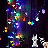 Lichterkette Außen bunt Glühbirnen, 15M 120 LED mit 31V Transformator, 8 Modi Weihnachten Lichterketten für Party Garten Balkon und Innen, Weihnachten, Kinderzimmer, Party, DIY usw, (Mehrfarbig)