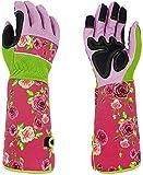 Strapazierfähige lange Gartenhandschuhe, atmungsaktiv, dornsicher, Gartenarbeitshandschuhe mit 37 cm langen Ärmeln, um Ihre Arme bis zum Ellenbogen zu schützen, für Frauen