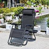 Liegestuhl Klappbar und Verstellbar Garten Hochlehner Gartenliege Relax Liegestuhl mit Verstellbarem Kopfpolster Ergonomische Atmungsaktive Sonneliege Gartenstuhl