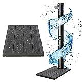 Arebos Solardusche 35L & Bodenelement | mit integriertem Thermometer & Fußdusche | Pooldusche für den Garten | Wassertemperatur bis 60°C