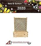 BaustoffhandelShop Blumenkasten Holz Rankgitter Pflanzkasten Rankkasten Rankhilfe Rosengitter Kübel (Basic mit Rankgitter Natur, 90 x 40 x120 cm)