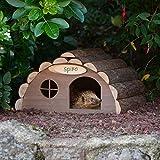CKB LTD Igel- oder Meerschweinchenhaus aus Holz für den Außenbereich, Unterschlupf für den Außenbereich – Hotel kann auch für Überwinterung im Haus für den Garten verwendet werden, 33,5 x 34 x 19 cm