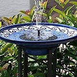 TekHome Solar Springbrunnen, 1.6W Vogelbad Brunnen Garten Deko,Gartendeko Solar Fontäne, Gartenbrunnen Pumpe Solarbetrieben Groß für Außen Miniteich, Springbrunnen Wasserspiel Solar Teich.