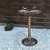 CLGarden Vogeltränke VGT4 Vogelbad Vogel Tränke Bad mit Zwei Vögeln auf der Wasserschale