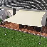 IBIZSAIL Markise-Wasserdicht- 95% UV Sonnenschutz - Gebogenes Rechteck - Geeignet für Garten、 Balkon、 Outdoor - Zitronengelb - 400 x 300 cm