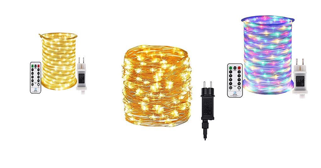 LED-Lichterketten für Aussen